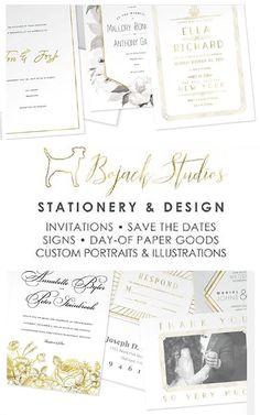 Welcome to our shop! We are constantly adding unique, beautiful designs, so be sure to check back often. New for 2019: Photo Save The Dates, Photo Thank You Cards, and exciting modern invitations. #weddinginvitations #wedding #invitation #replycards #welcomeposter #menu #tablesign #portrait #weddinggifts #stationery #inserts #BoJackStudios #seatingcharts