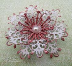 Flower tutorial using the Arianna Lace die from Heartfelt Creations by Liz Walker