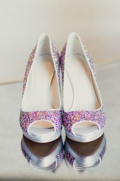 Multi Colored Sparkle Wedding Shoes.