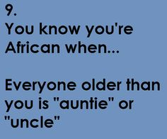 You know you're South African when ...