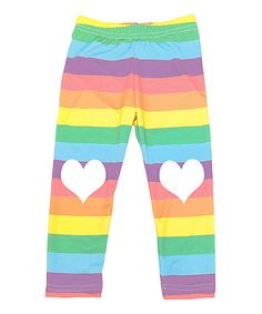 Look what I found on #zulily! Rainbow Heart Patch Leggings - Infant, Toddler & Girls #zulilyfinds