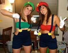 super mario brothers:  Male or Female; suspenders and shorts or overalls.