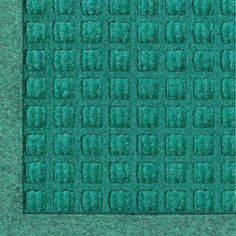 """Andersen 280 Aqua Marine Polypropylene WaterHog Fashion Entrance Mat, 8' Length x 3' Width, For Indoor/Outdoor by Andersen. $110.06. No other mat in the industry traps water and dirt so effectively. WaterHog mats are constructed of rubber reinforced face nubs and the """"waffle"""" design provides crush proof scraping action. Raised, """"Water Dam"""" borders trap dirt and water keeping floors cleaner and safer. These mats are perfect indoors or out, especially outside your front door..."""