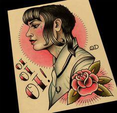 Skinbyrd Tattoo Art Print by ParlorTattooPrints on Etsy