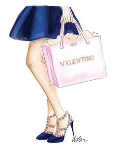Shopping für Valentino Rockstud Aquarell Fashion von KaraEndres