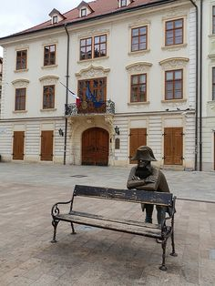 ♢□○□♢ Napoleon statue in front of French embassy in Bratislava Slovakia Statues, Sculpture Metal, Bratislava Slovakia, Continental Europe, Heart Of Europe, Next Holiday, Central Europe, Belgrade, Eurotrip