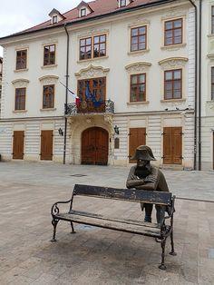 Napoleon statue in front of French embassy in Bratislava Slovakia