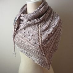 Texelle, a knitting pattern for an all texture, no lace, shawl that is super fun to knit. Great way to learn a few new stitches, too! By Phydeaux Designs.