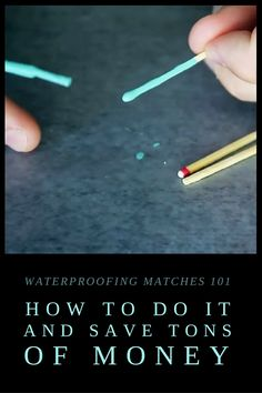 Waterproofing Matches 101: How to Do It and Save Tons of Money - One way to start a fire in the wild is to use matches. In fact, when most people think about survival fire starting, matches are one of the first things that come to mind. While there's nothing wrong with matches, they do have an inherent flaw: they aren't waterproof.