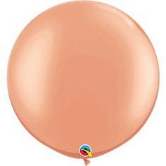 Roze Gouden Latex Ballon - 76.2 cm