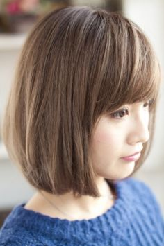 Hair ☆ 109 ヘアスタイル】 — Cut + Color + Style by Freres Medium Hair Cuts, Short Hair Cuts, Medium Hair Styles, Short Hair Styles, Short Bob Hairstyles, Hairstyles With Bangs, Cool Hairstyles, Japanese Hairstyles, Haircuts