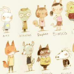 animal characters from Drawn Blog
