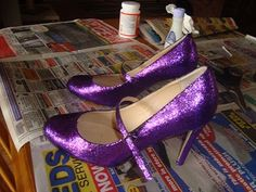 make your own glitter high heels? hmmm