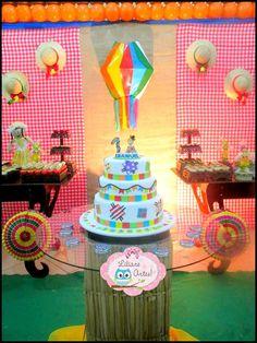 Dica de bolos cenográfico para Festa Junina! Para aniversário infantil!