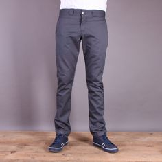 Szare spodnie Dickies WP801 Skinny Fit Pant Charcoal Grey / www.brandsplanet.pl / #dickies streetwear