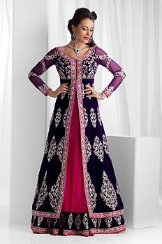 Purple and pink anarkali - Benzer World 2014 Collection