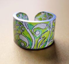 Lovely shrink plastic ring.