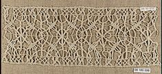 Band  Date: 17th century  Culture: Italian  Dimensions: L. 9 1/2 x W. 4 inches 24.1 x 10.2 cm  Classification: Textiles-Laces-Macrame  Accession Number: 08.180.598