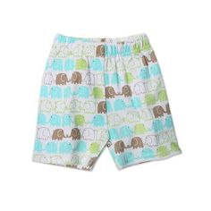 Zutano Unisex-baby Infant Elephants Short