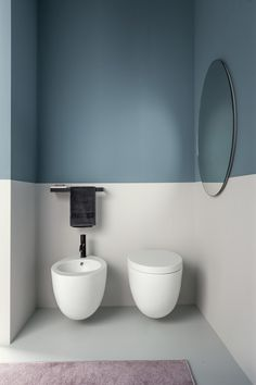 Simple and Creative Bathroom Decoration - 30 Ideas for Modern Bathroom .- Einfache und kreative Bad-Deko – 30 Ideen fürs moderne Badezimmer bathroom decoration two colors vertical -