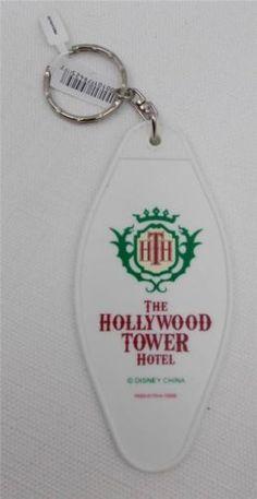 Disney-Hollywood-Studios-Tower-of-Terror-Hotel-Room-Key-Keychain-1313-New