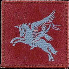 British Airborne Forces Emblem The Emblem of the airborne forces is Bellerophon mounted on the winged horse Pegasus. The first recorded instance of an airborne warrior, his exploits are recounted in Greek Mythology where he is chiefly famous for slaying the fire-breathing monster Chimaera. Mounted on Pegasus, with spear in hand, Bellerophon rode into the air, swooped down upon the monster and destroyed it.