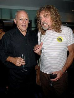 Robert Plant of Led Zeppelin with David Gilmour