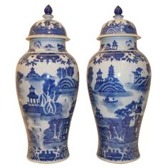 A Pair Of Porcelain Cover Jars