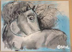 Mijn eerste schilderij van een paard