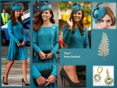 Royal Tour New Zealand April 2014 - loving the colors and jewels!