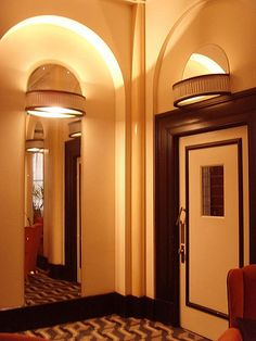 The Lansdowne Club 1930s: London art deco interior, via Flickr.