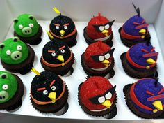 Space angry birds cupcakes by Designer Cakes By April, via Flickr