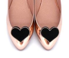 A special collection of hearts made of Suede Leather with a zipper. www.mysfashion.com