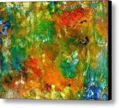Floral Abstract Canvas Print / Canvas Art By Alexis Bonavitacola