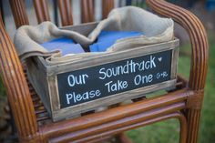 Blue Covered CD Wedding Favors
