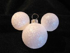 No glue Mickey Mouse ornaments!