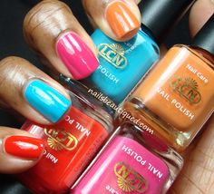 LCN Shades of Desert Summer 2013 Collection, Swatches and Review