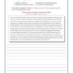 006 Page 1 Paraphrase Worksheet.docx Writing Ideas High