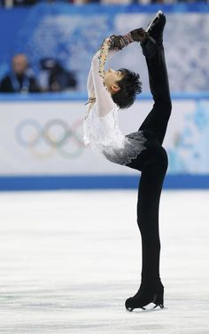 Winner Japan's Yuzuru Hanyu competes during the Figure Skating Men's Free Skating Program at the Sochi 2014 Winter Olympics