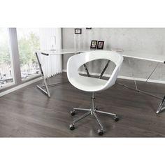 Moderne bureaustoel Gambler wit - 10039