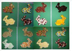 La petite école dans la prairie : la maternelle de Naternelle TPS PS MS: Arts plastiques : les lapins