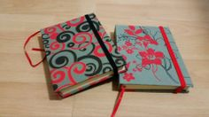 Libretas A5 con papel lokta  rojo y negro