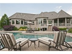 Pool - 4253 Maxwell Dr, Mason, OH 45040 — This 8000+SF ranch has amazing views from every room-golf course and water. Private setting w/almost 2 acres in Estates of Heritage Club. Great family and entertaining floor plan.Outdoor living at its best-gazebo porch and pool area.