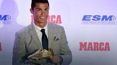"""""""Złoty But"""": Cristiano Ronaldo po raz czwarty najlepszym strzelcem"""