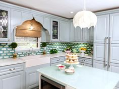 DIY Painting Kitchen Cabinets Ideas + Pictures From HGTV : Rooms : Home & Garden Television