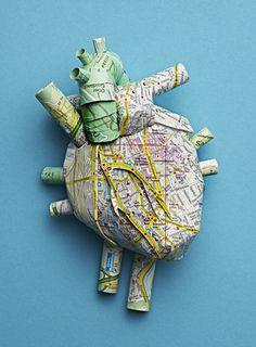 """Human organs made of Zurich city maps for """"Globe"""", the magazine of ETH Zurich, Switzerland"""