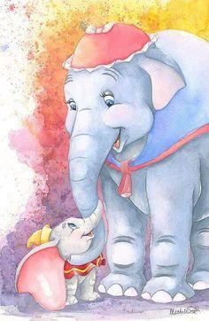 Dumbo watercolor Art!