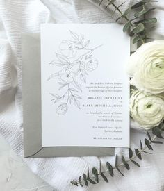 Even though I typically prefer a traditional layout for wedding invitations, I love how this layout really emphasizes the illustration. | Custom wedding invitations by Little Fox Paperie | Chicago, Illinois | Gracie Nunez #weddinginspo #weddinginspiration #customweddingstationery #customweddinginvitations #bridetobe #engaged #chicagobride #chicagoweddings #midwestwedding #weddinginvitations #weddingstationery #chicagosmallbusiness