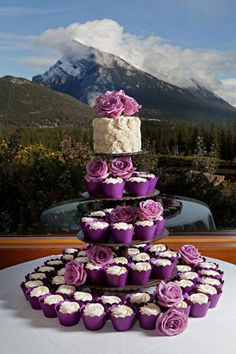 Purple Wedding - Cupcake Cake