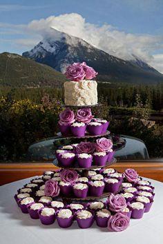delish purple cup cakes